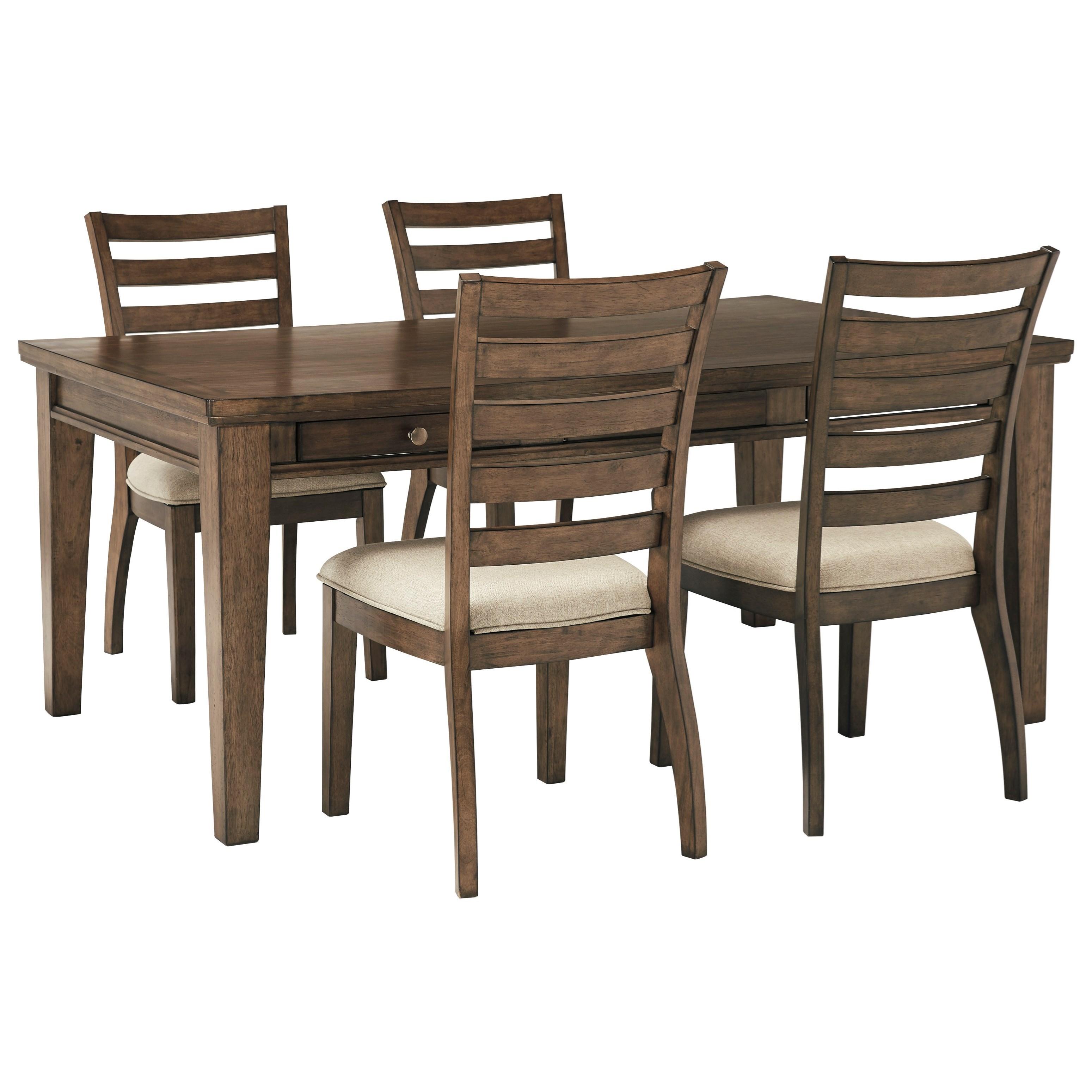 Ashley Furniture Hyland 5 Piece Dining Set With: Signature Design By Ashley Flynnter 5 Piece Storage Table