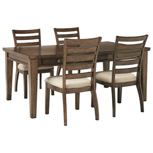 Signature Design by Ashley Flynnter 5 Piece Table and Chair Set