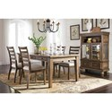 Signature Design by Ashley Flynnter 5 Piece Storage Table and Upholstered Chair Set