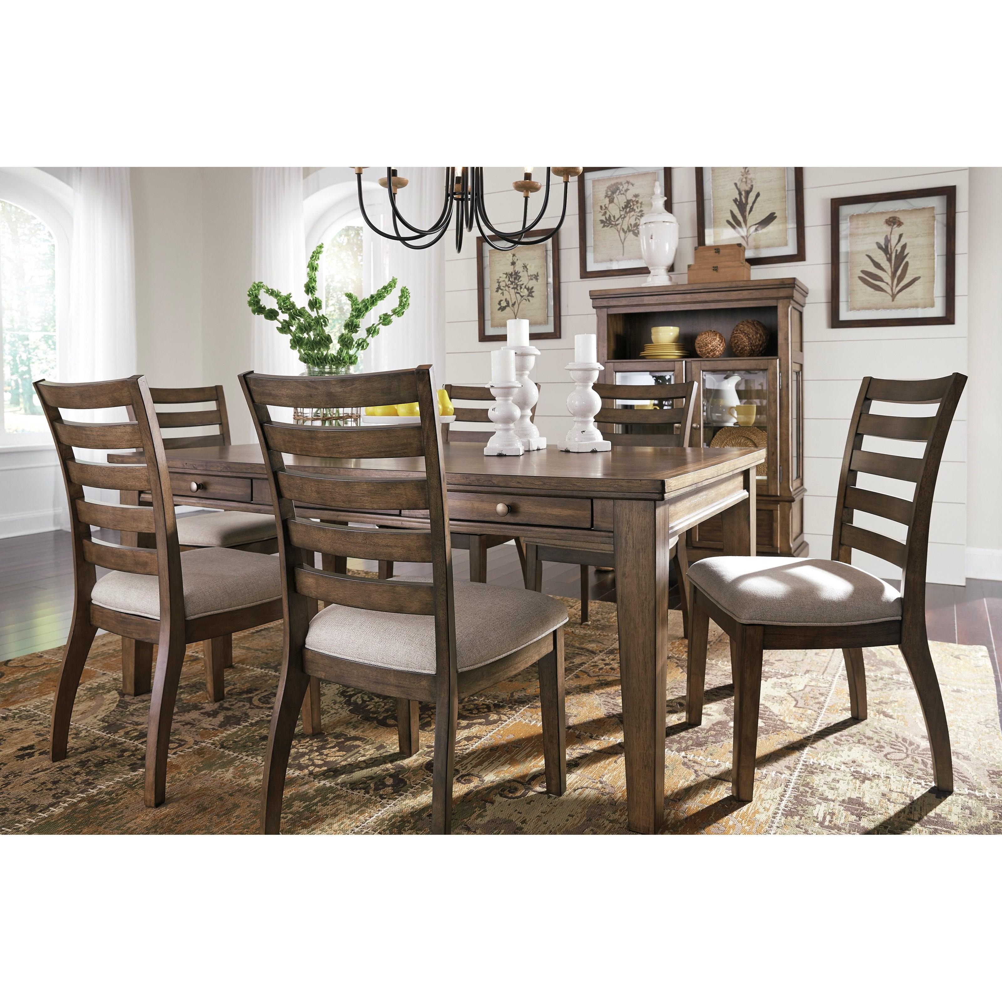 Ashley Dining Table: Signature Design By Ashley Flynnter D719-25 Rectangular