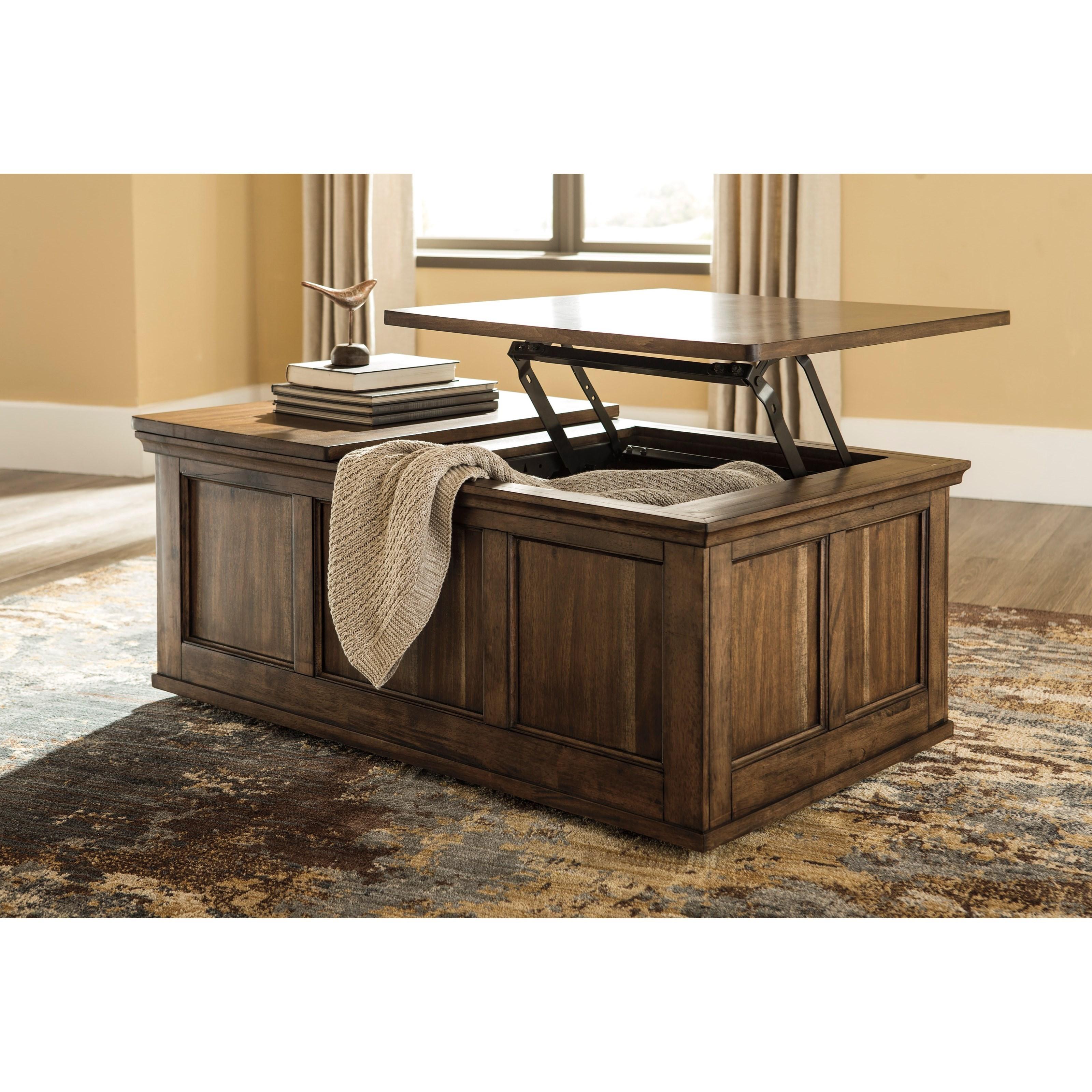 Storage Coffee Table Ashley: Signature Design By Ashley Flynnter T919-9 Transitional