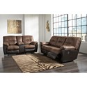Signature Design by Ashley Follett Reclining Living Room Group - Item Number: 65202 Living Room Group 1