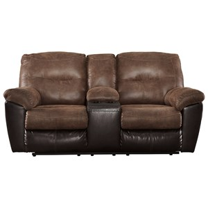 Ashley (Signature Design) Follett Double Reclining Loveseat w/ Console