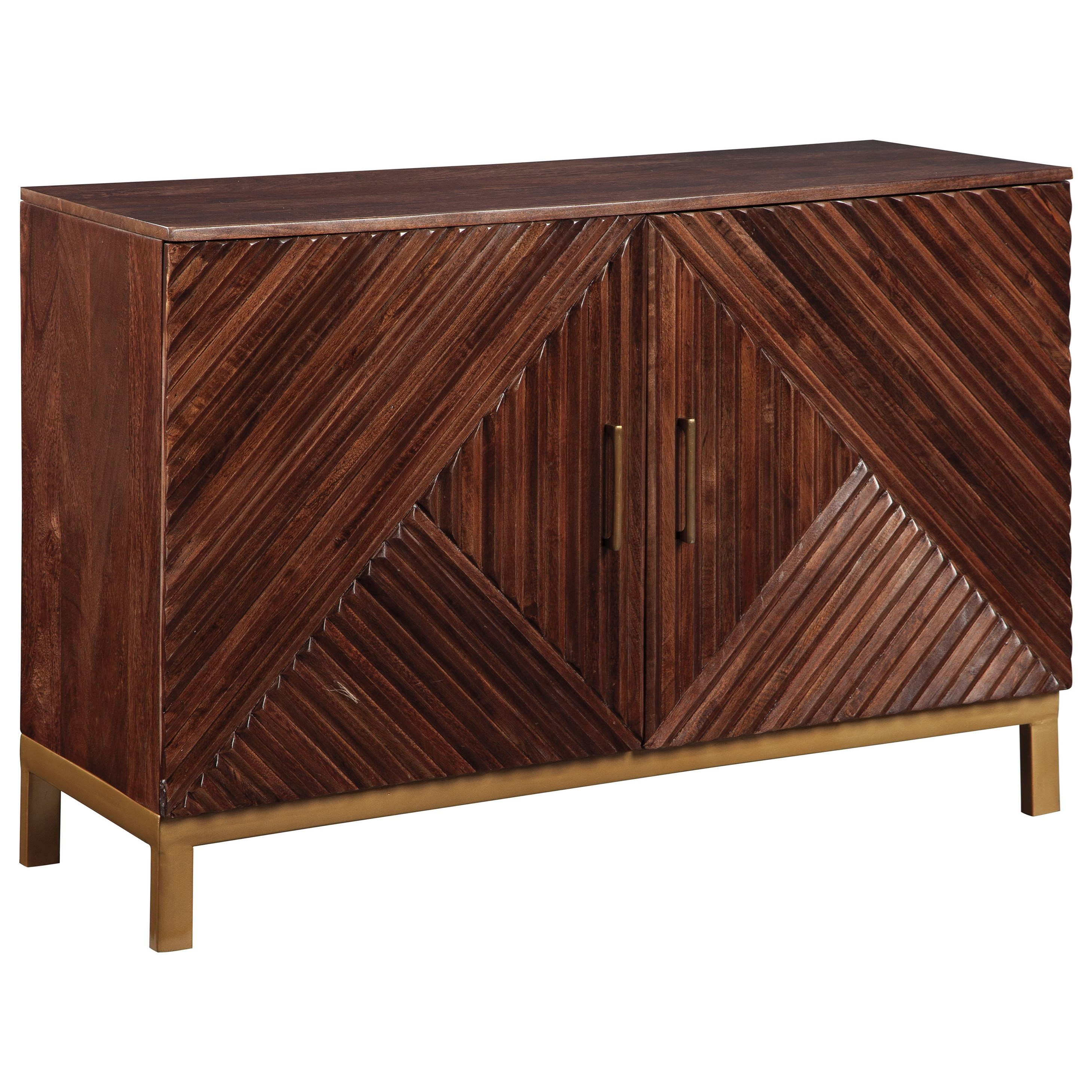 Walentin Accent Cabinet By Ashley Furniture: Ashley Signature Design Forestmin Geometric Overlay Accent