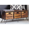 Signature Design by Ashley Forestmin Storage Cabinet with 3 Removable Bins