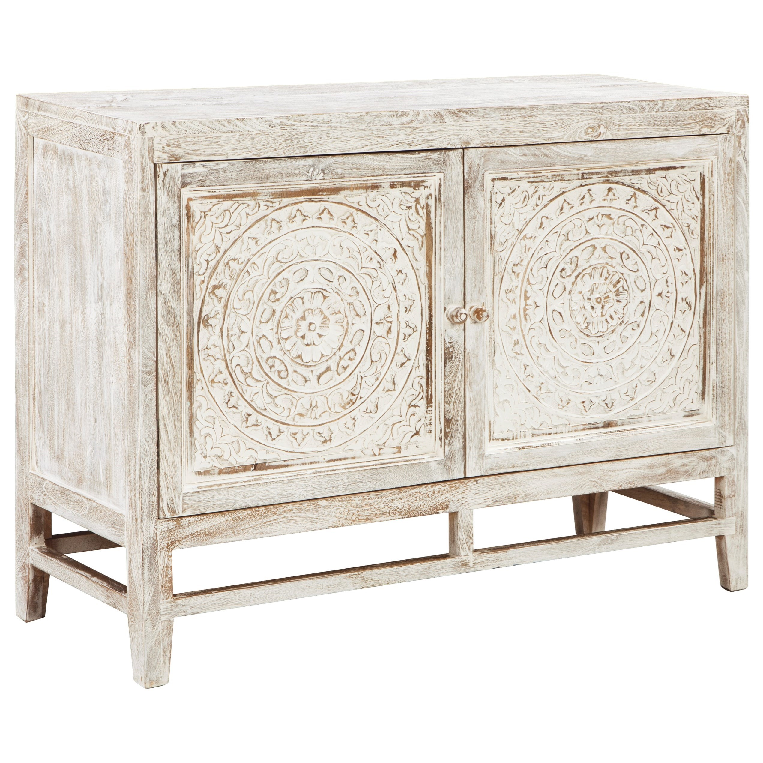 Signature Design by Ashley Fossil Ridge Door Accent Cabinet - Item Number: A4000038