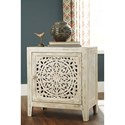 Signature Design by Ashley Fossil Ridge Relaxed Vintage Accent Cabinet with 2 Shelves