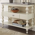Signature Design by Ashley Fossil Ridge Transitional Sofa Table with Metal Table Top