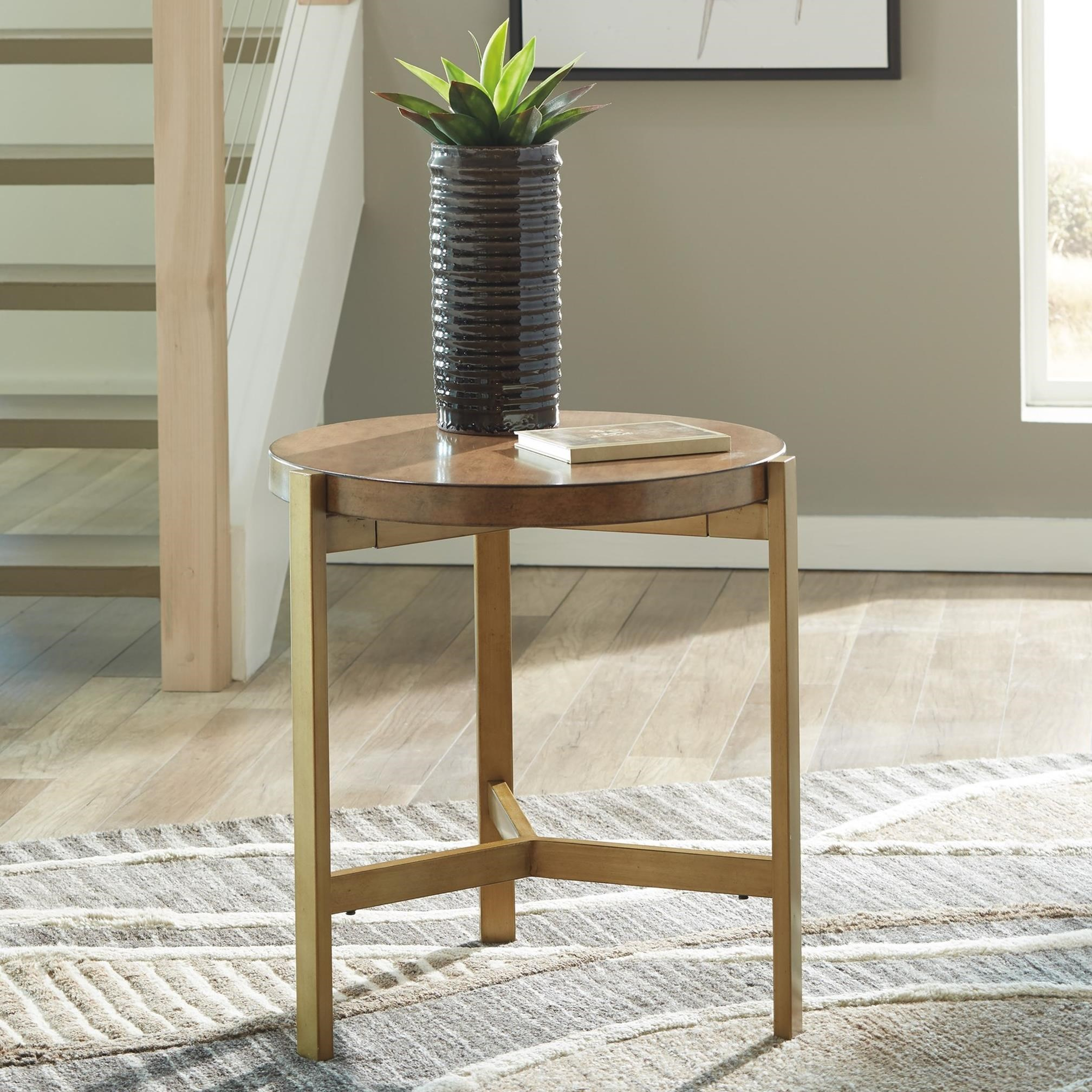 Signature Design By Ashley Brookfield Brown Round End: Signature Design By Ashley Franston T346-6 Contemporary