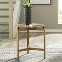 Signature Design by Ashley Franston Contemporary Round End Table with Metal Base