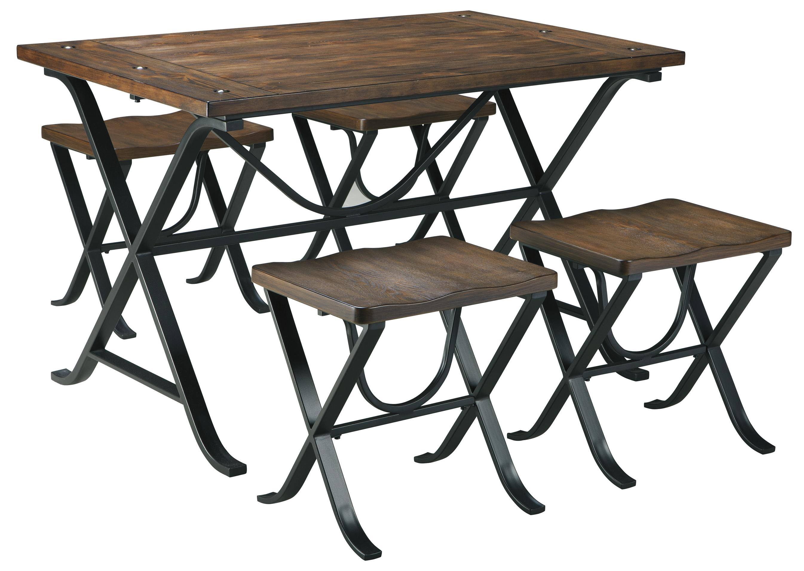 Ashley Signature Design Freimore Industrial Style Rectangular Dining