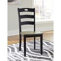 Signature Design by Ashley Froshburg Two-Tone Finish 3-Piece Round Drop Leaf Table Set