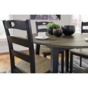 Signature Design by Ashley Froshburg Two-Tone Finish 5-Piece Round Drop Leaf Table Set
