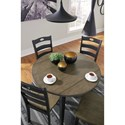 Signature Design by Ashley Froshburg Two-Tone Finish Round Drop Leaf Table