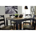 Signature Design by Ashley Froshburg Two-Tone Finish 5-Piece Square Counter Table Set