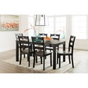 Signature Design by Ashley Froshburg Two-Tone Finish 7-Piece Dining Room Table Set