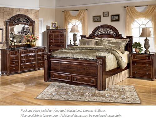 Signature Design by Ashley Gabriela 4pc King Bedroom - Item Number: B347 KB BDMNS