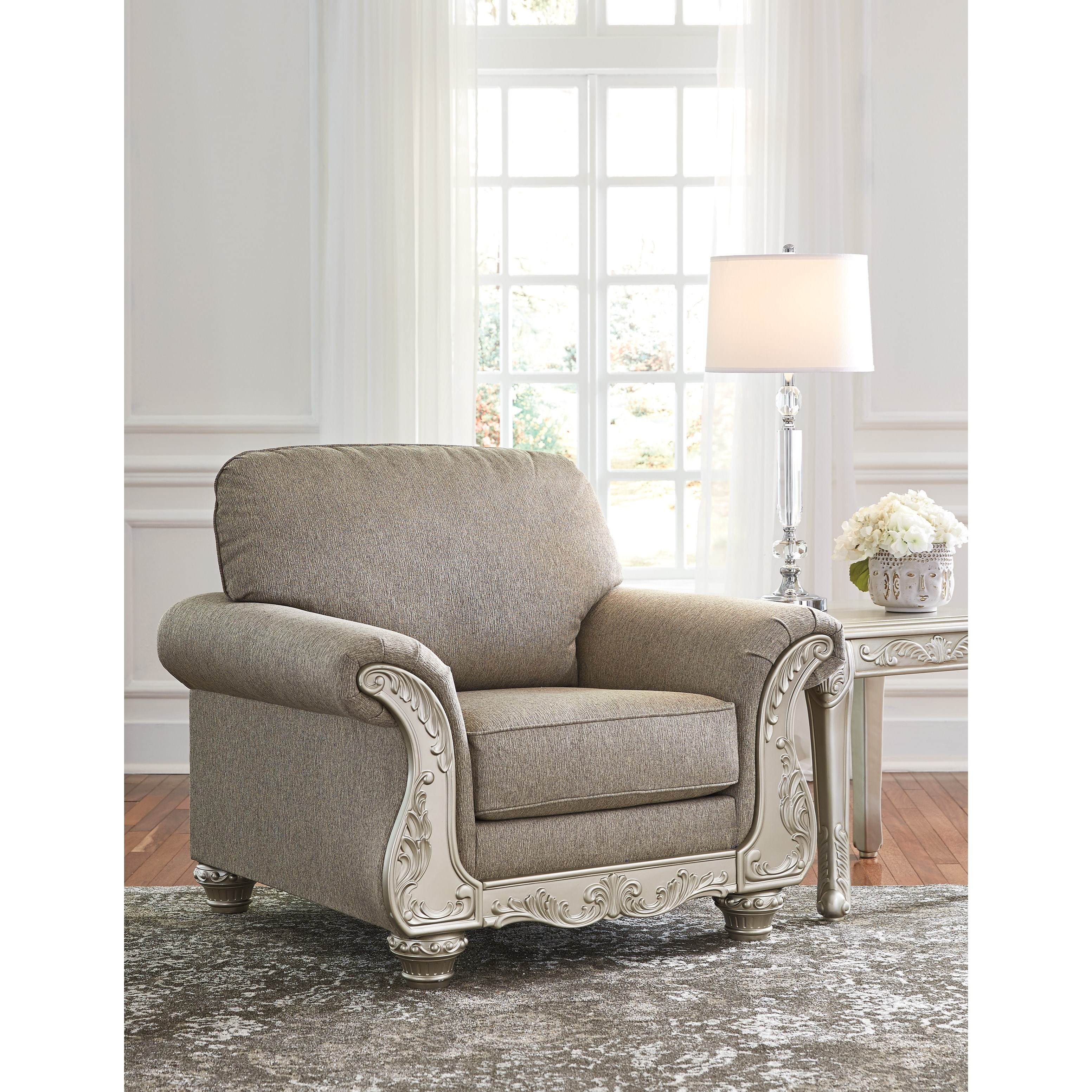 Ashley Furniture Online Catalog: Signature Design By Ashley Gailian Chair & Ottoman With