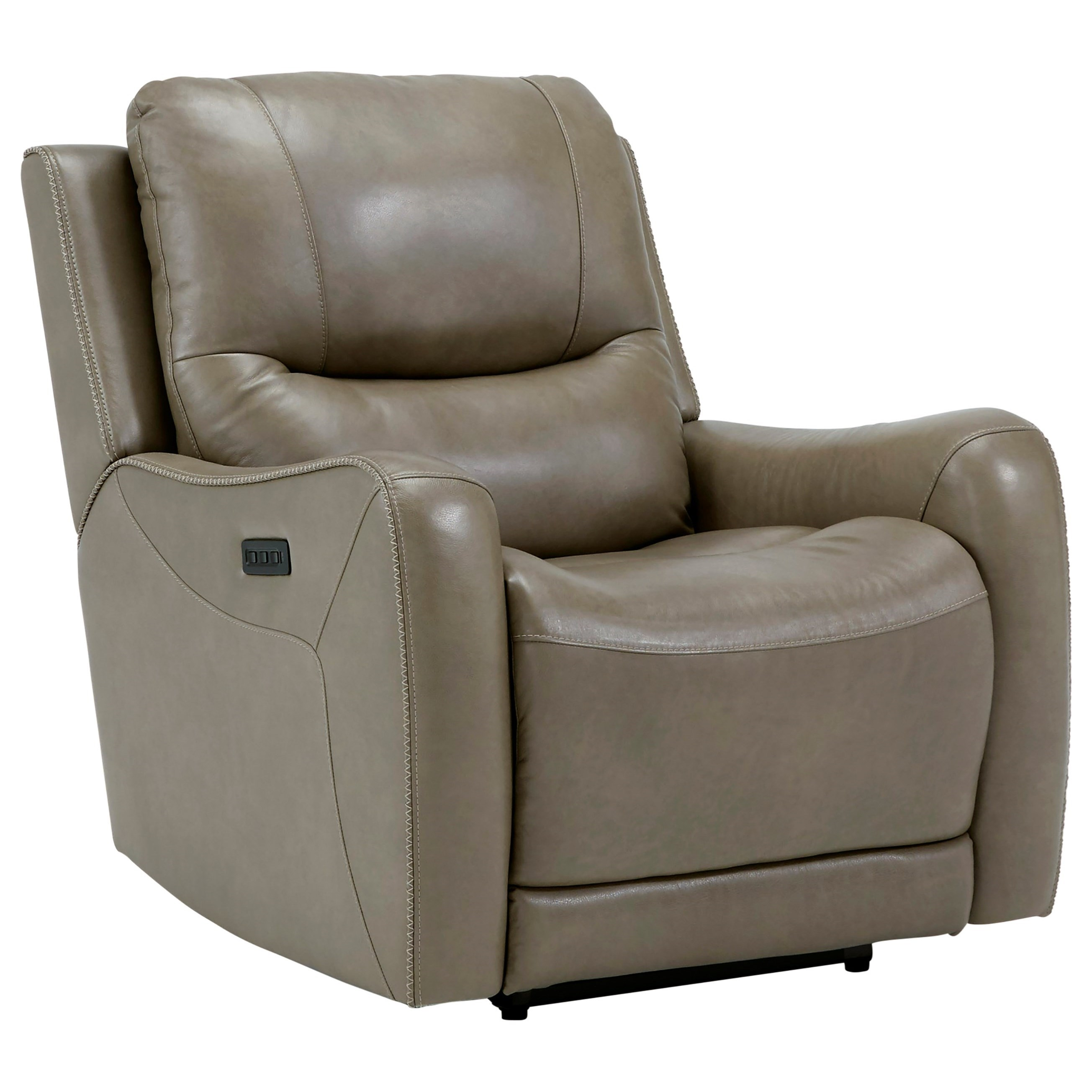 Giselle Heat/Massage/PWR Headrest Recliner by Signature at Walker's Furniture