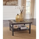 Signature Design by Ashley Gallivan Rectangular Cocktail Table with Slate Tile Inlay