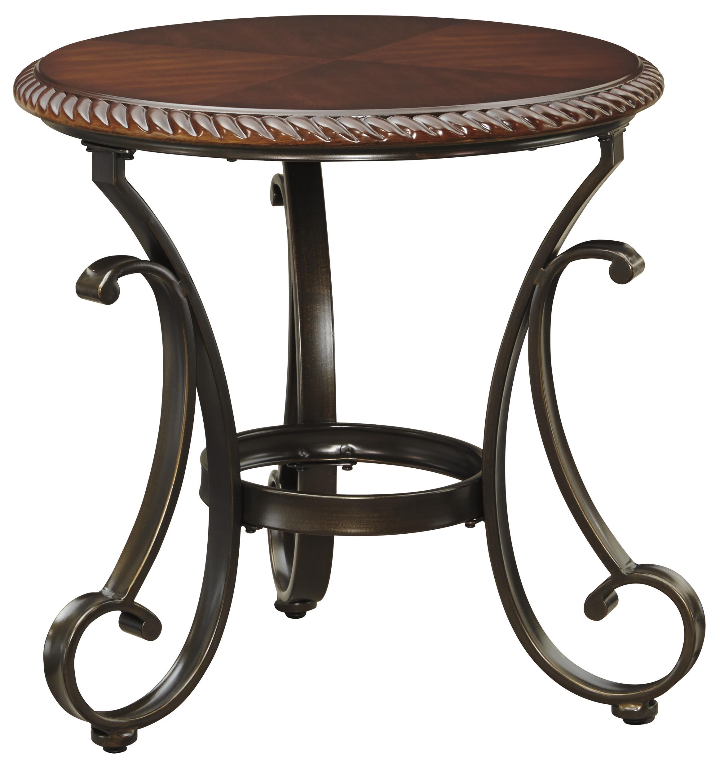 Signature Design by Ashley Gambrey Round End Table - Item Number: T626-6