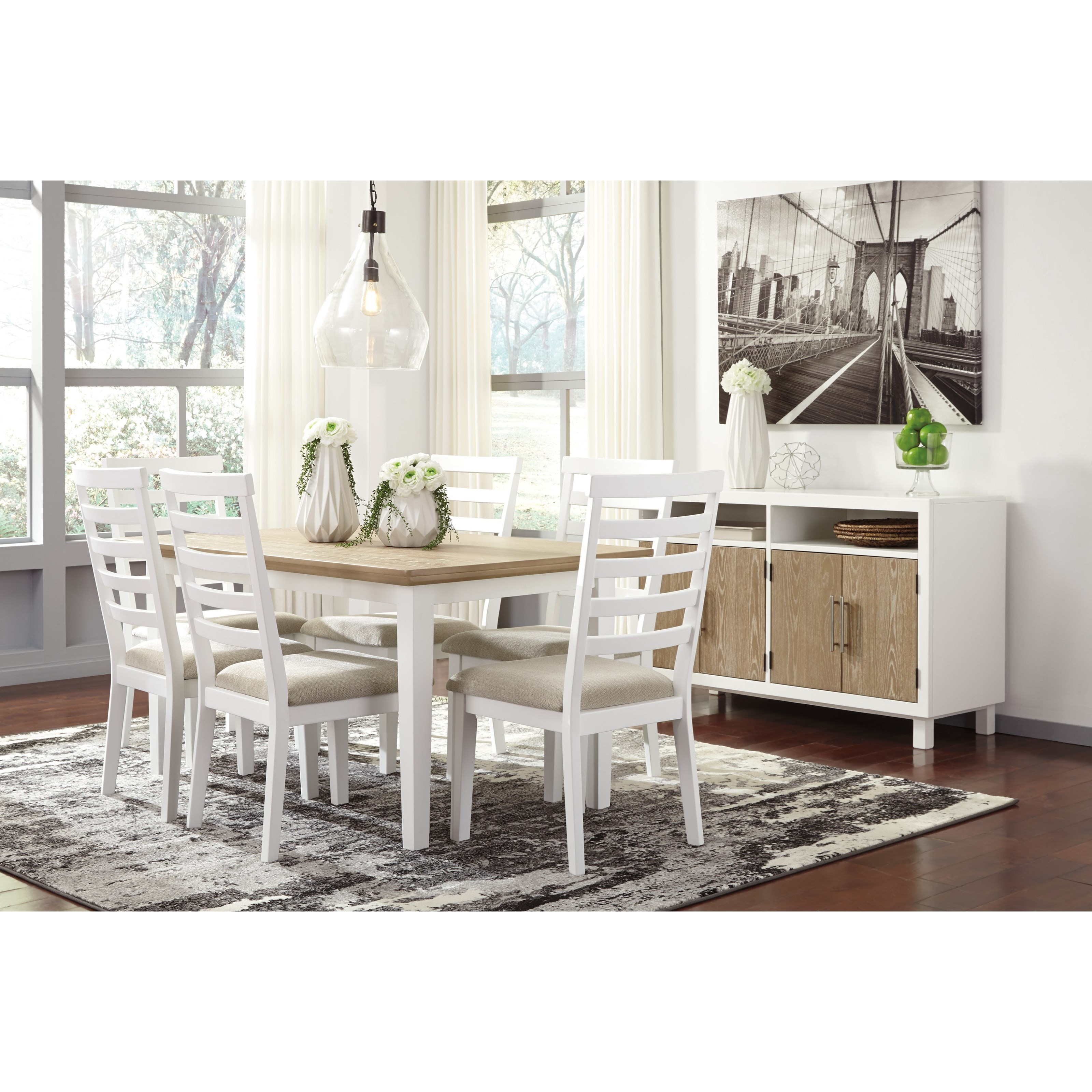 Signature Design By Ashley Gardomi Casual Dining Room Group   Item Number:  D632 Dining Room