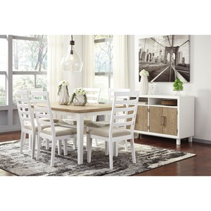 Signature Design by Ashley Gardomi Casual Dining Room Group