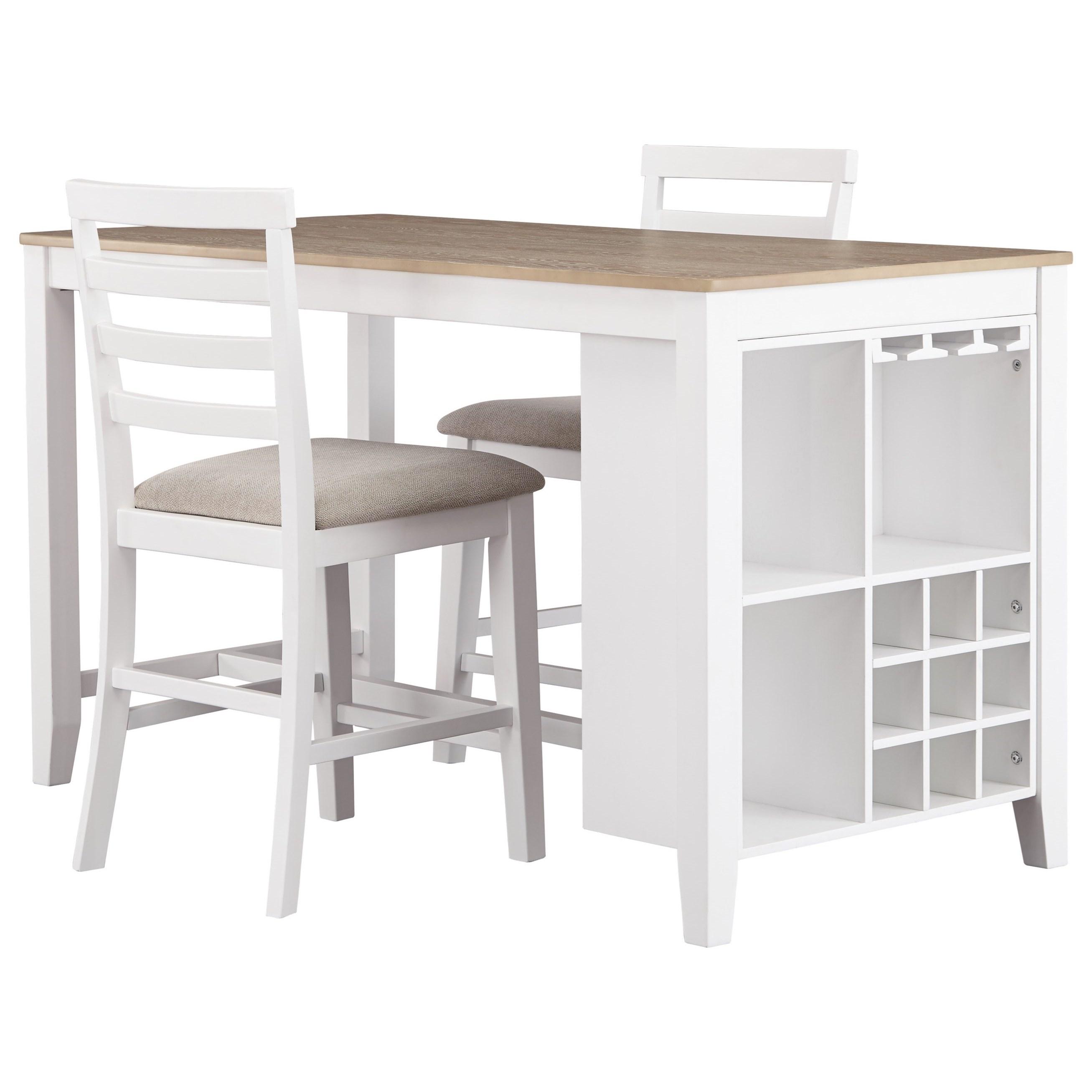 Signature Design by Ashley Gardomi 3-Piece Counter Table Set - Item Number: D632-32+2x124