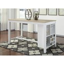 Signature Design by Ashley Gardomi 3-Piece Counter Table with Storage Set