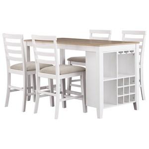 Signature Design by Ashley Gardomi 5-Piece Counter Table Set