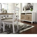 Signature Design by Ashley Gardomi White/Light Brown Oak Dining Room Server