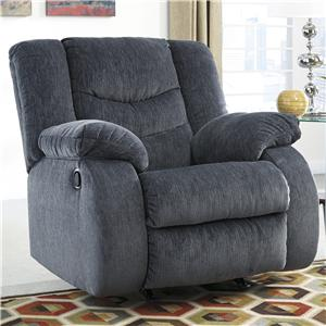 Signature Design by Ashley Garek - Blue Rocker Recliner