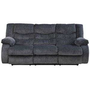 Signature Design by Ashley Garek - Blue Reclining Sofa