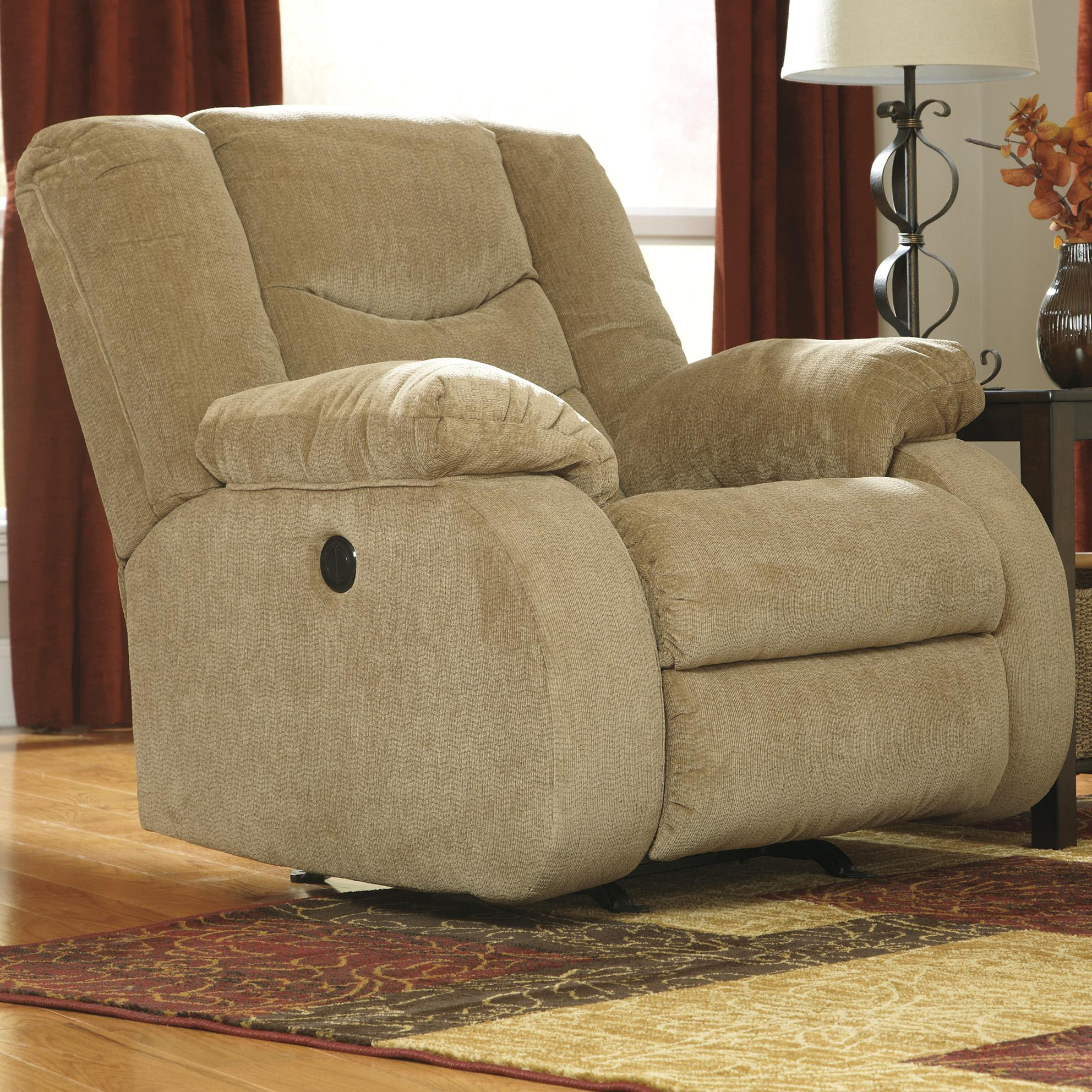 Signature Design by Ashley Garek - Sand Rocker Recliner - Item Number: 9200225