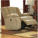 Signature Design by Ashley Garek - Sand Casual Rocker Recliner with Pillow Arms