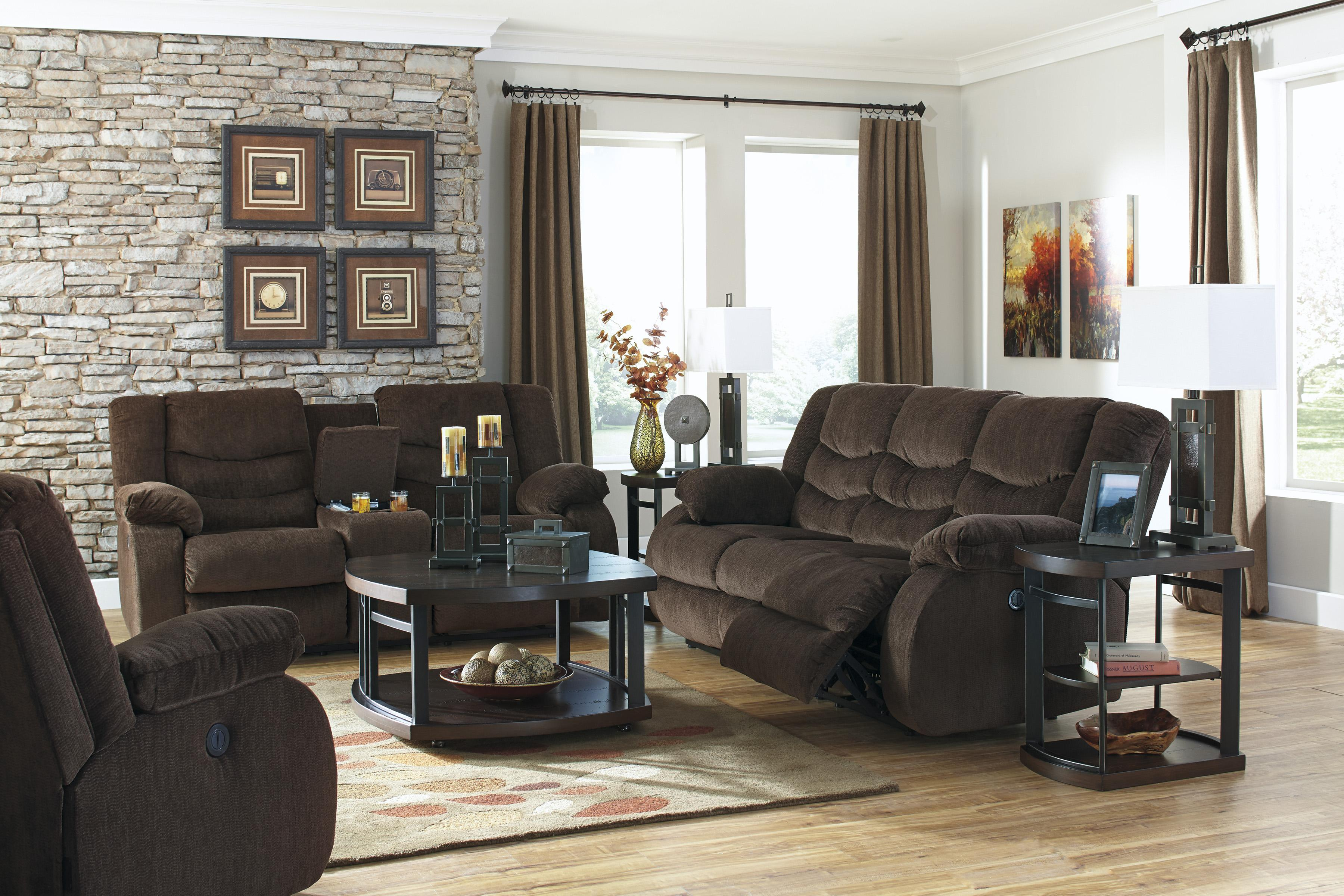 Signature Design by Ashley Garek - Cocoa Reclining Living Room Group - Item Number: 92003 Living Room Group 1