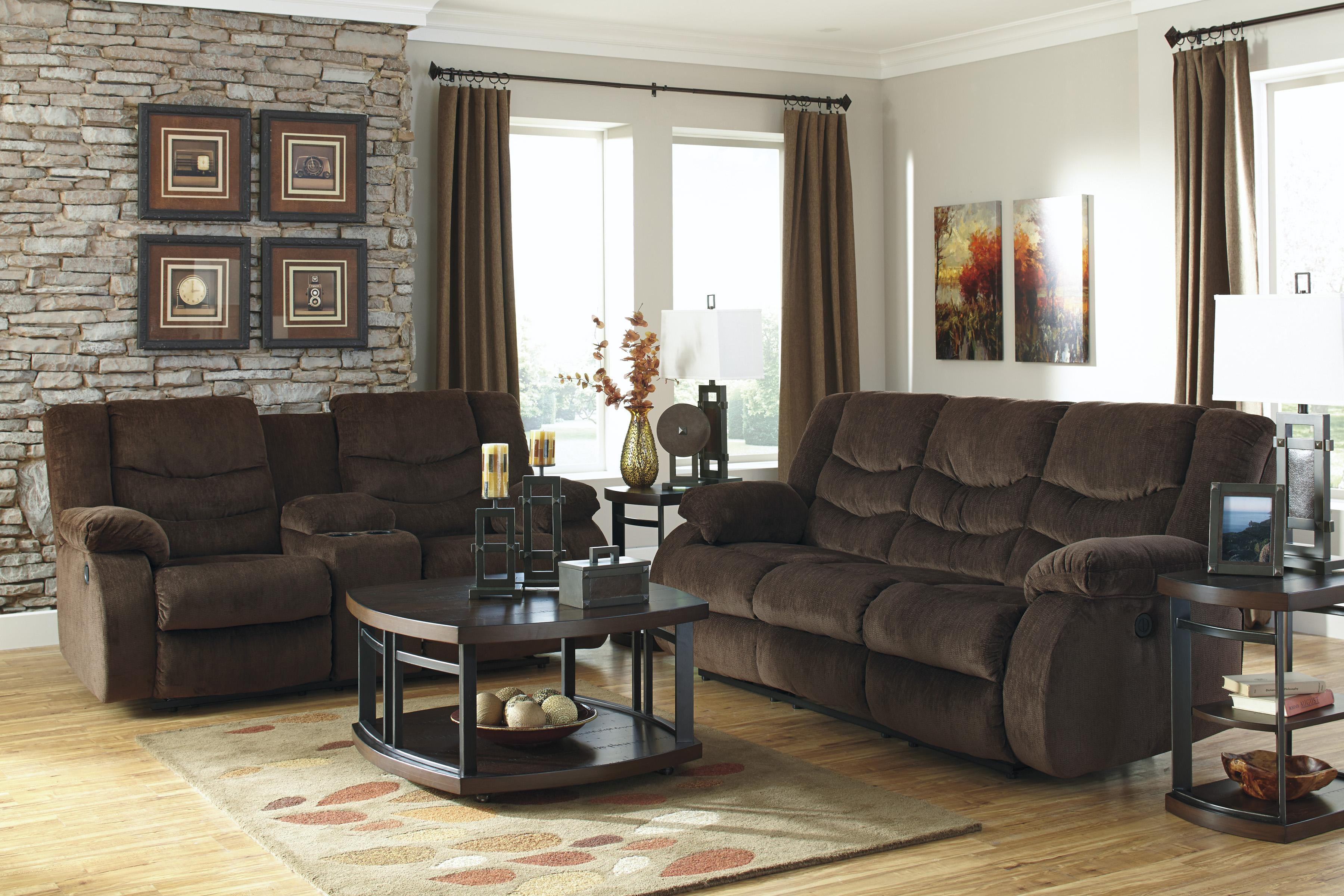 Signature Design by Ashley Garek - Cocoa Reclining Living Room Group - Item Number: 92003 Living Room Group 3