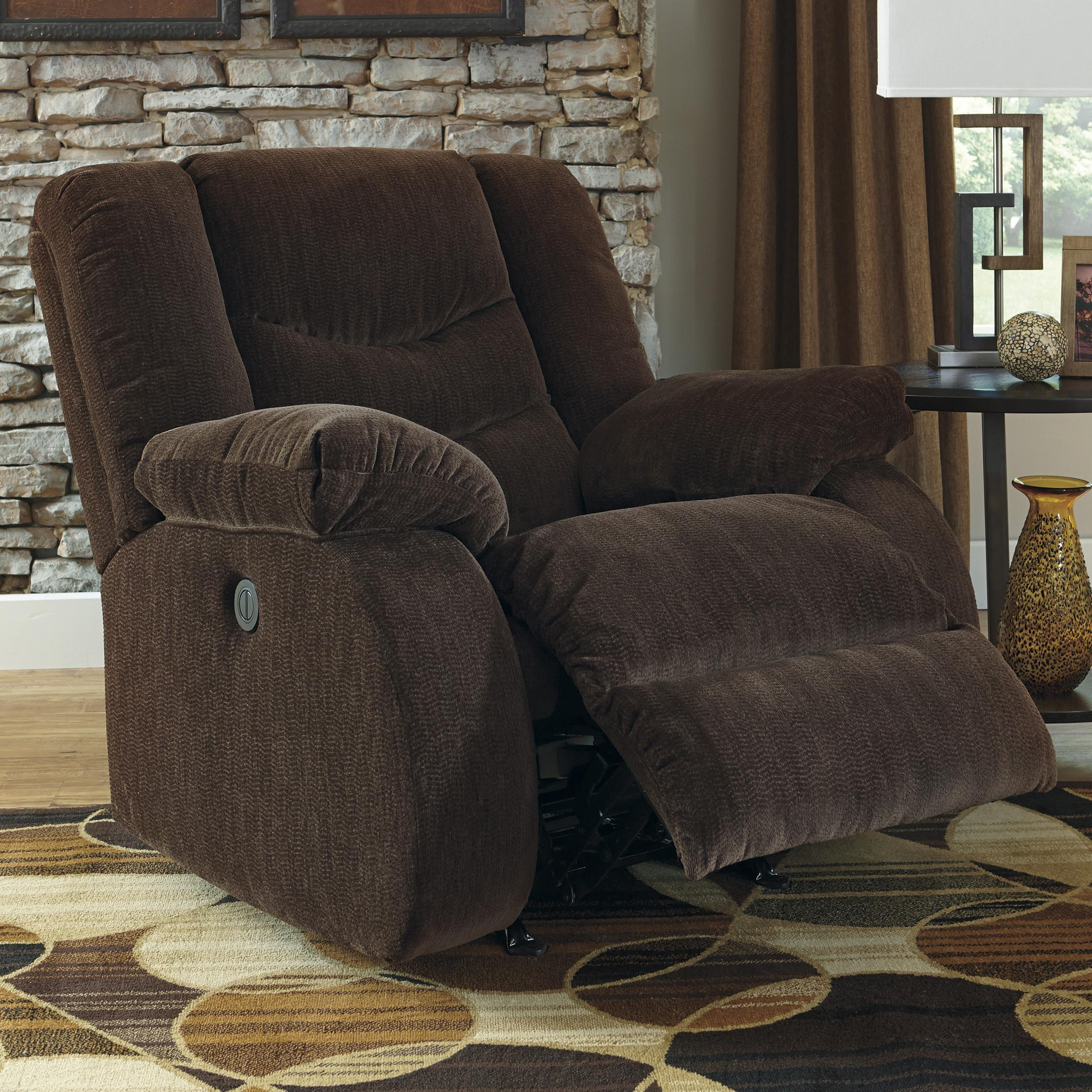 Signature Design by Ashley Garek - Cocoa Rocker Recliner - Item Number: 9200325