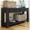 Signature Design by Ashley Gavelston Sofa Table - Item Number: T732-4
