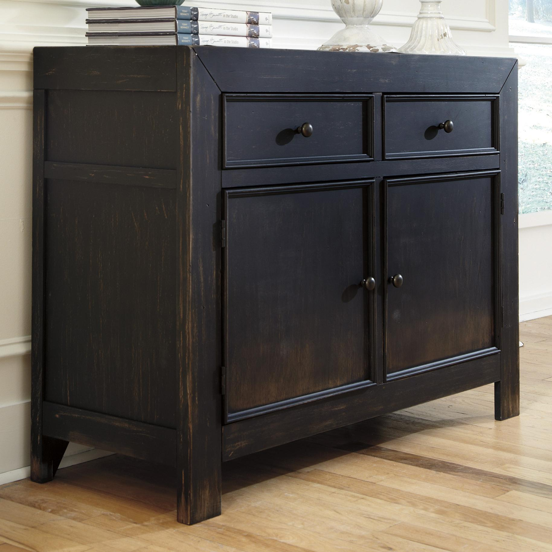 Signature Design by Ashley Gavelston Accent Cabinet - Item Number: T732-40
