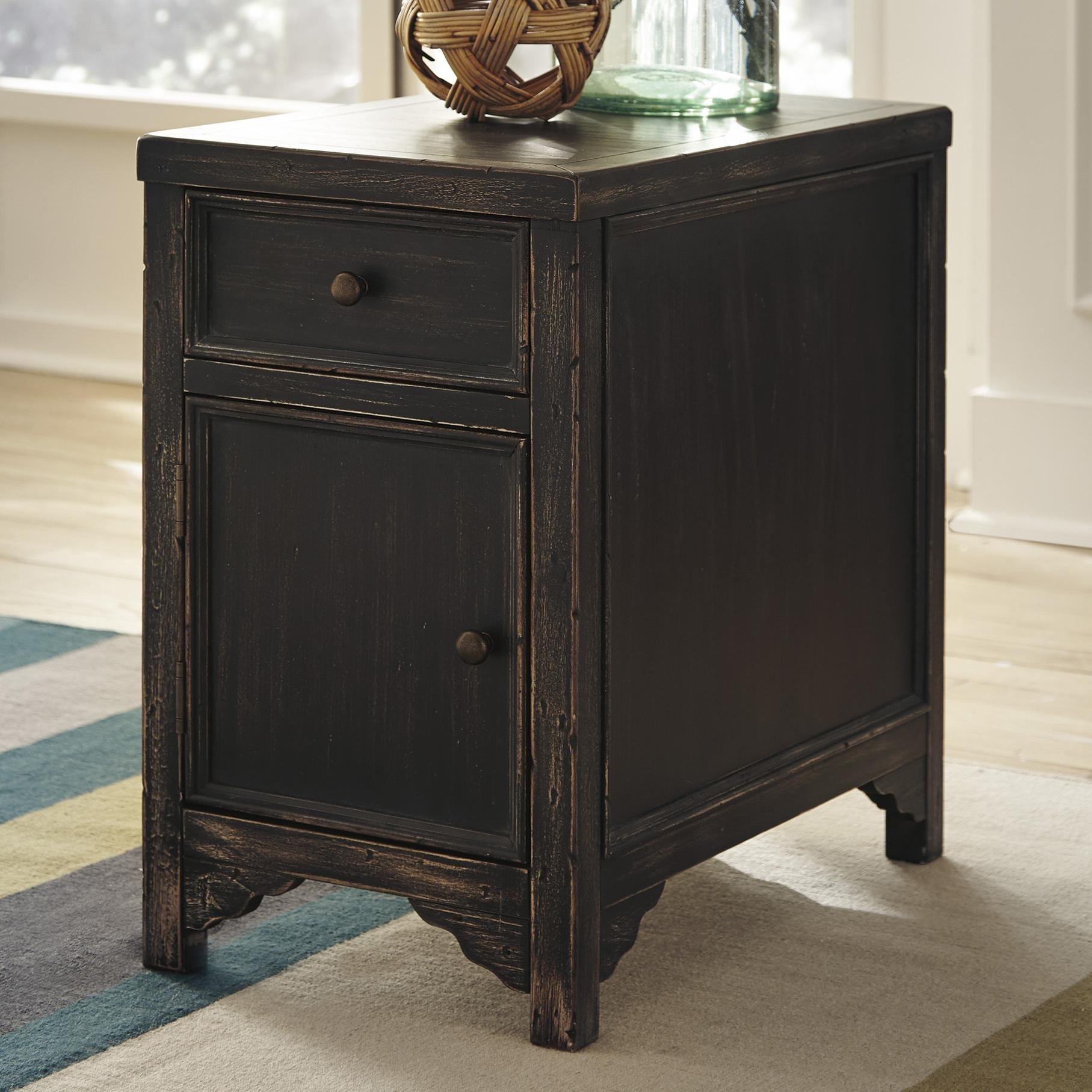 Signature Design by Ashley Gavelston Chair Side End Table - Item Number: T732-7