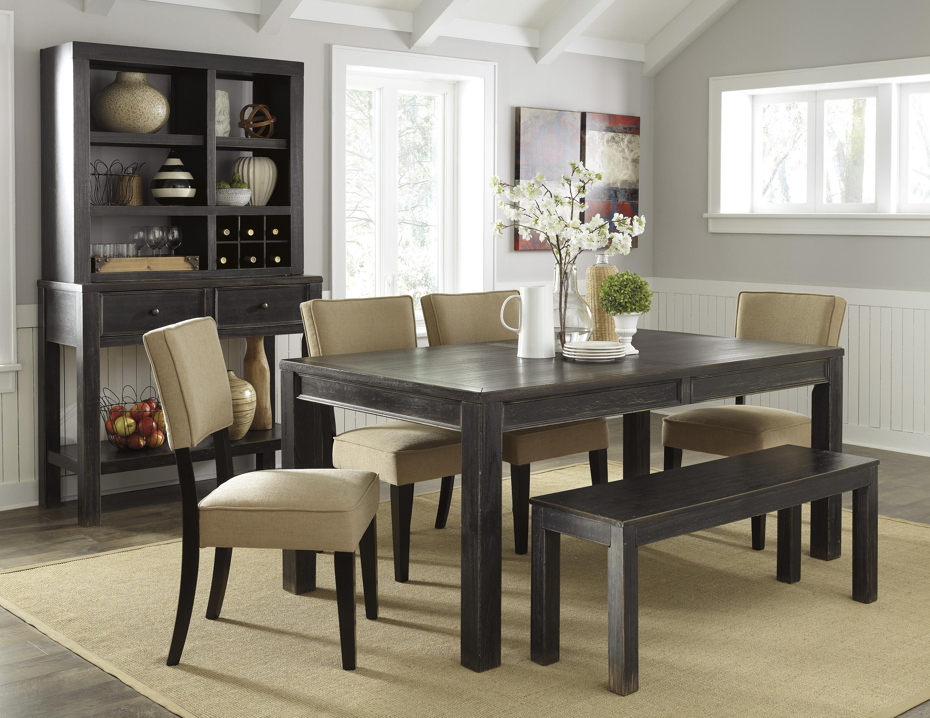 Signature Design by Ashley Gavelston Casual Dining Room Group - Item Number: D532 Dining Room Group 6