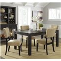 Signature Design by Ashley Gavelston 5-Piece Rectangular Table Dining Set - Item Number: D532-25+4x01