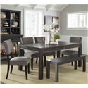 Signature Design by Ashley Gavelston 6-Piece Table Set with Bench - Item Number: D532-25+4x03+09