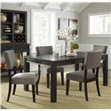 Signature Design by Ashley Gavelston 5-Piece Rectangular Table Dining Set - Item Number: D532-25+4x03