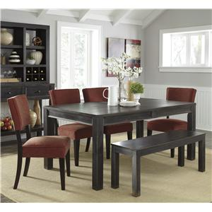 Signature Design by Ashley Gavelston 6-Piece Table Set with Bench