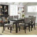 Signature Design by Ashley Gavelston 7-Piece Rectangular Table Dining Set - Item Number: D532-25+6x03