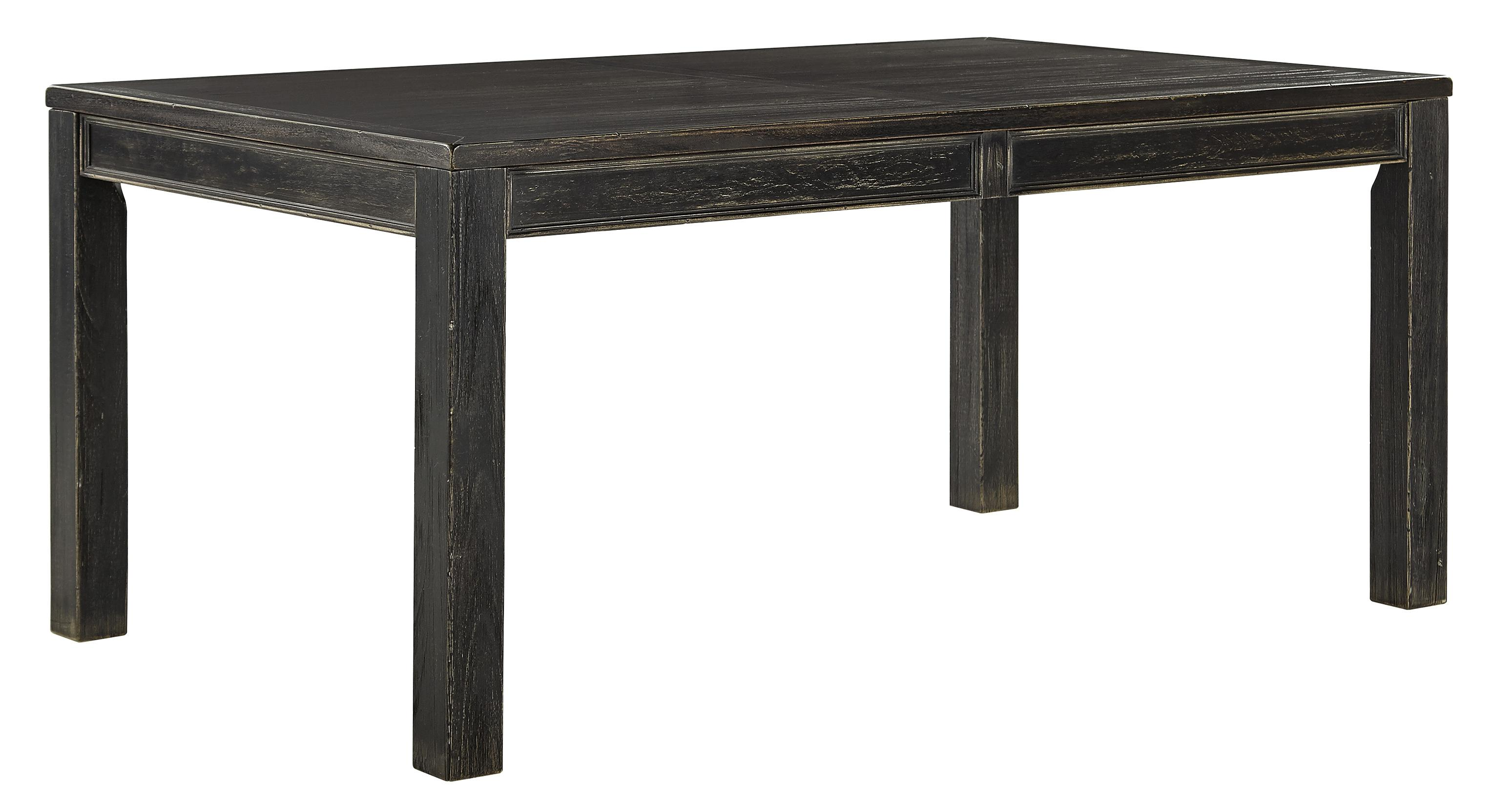 Signature Design by Ashley Gavelston Rectangular Dining Room Table - Item Number: D532-25