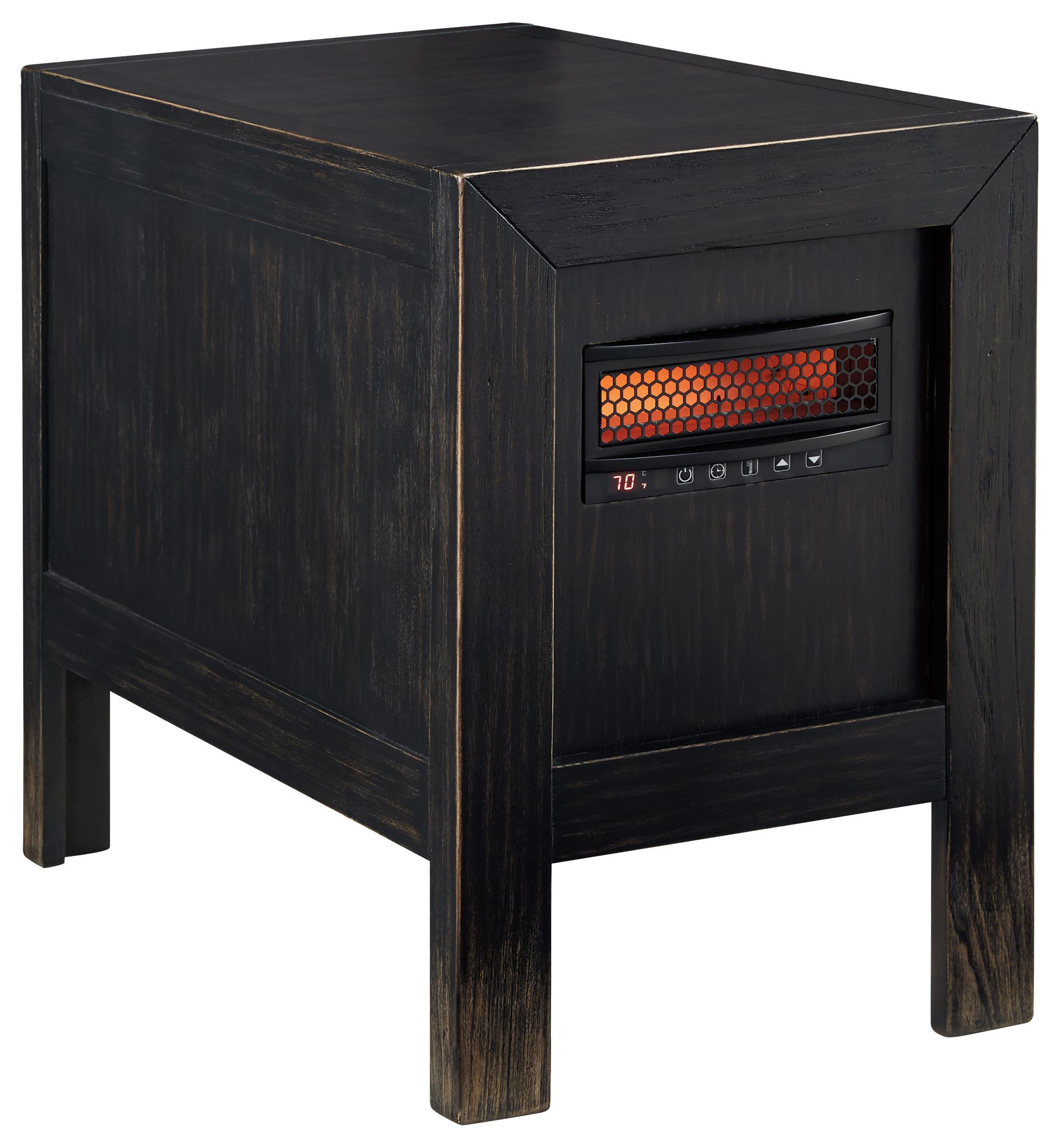 Signature Design by Ashley Gavelston Chair Side End Table w/ Heater - Item Number: T752-17
