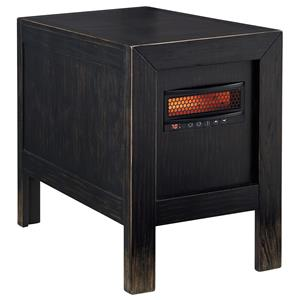 Signature Design by Ashley Gavelston Chair Side End Table w/ Heater